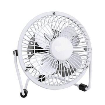 Mini desk fan EQUATION metal 10cm 15w white
