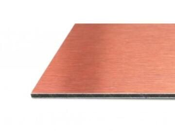 Synthetic Glass Aluminium Composite Panel Black&Copper 3mm thick-1600x610mm