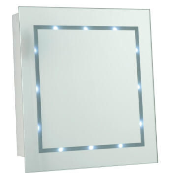 Led 0.72w batter square mirror