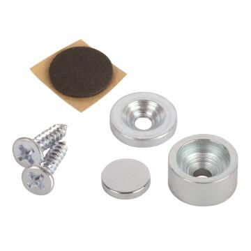Magnet catches neodym silver colour 12.7x6.4mm 2pc