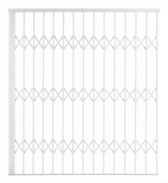 Alu-glide security gate type 18 1800(w)x1950-2150(h) white xpanda