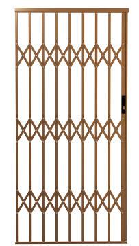 Alu-glide security gate type 10 1000(w)x1950-2150(h) bronze xpanda