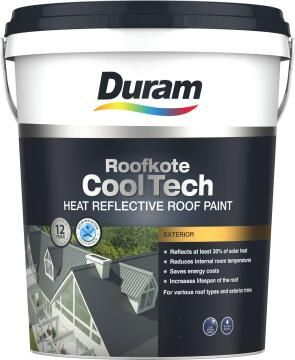 Acrylic roof paint DURAM Roofkote CoolTech White 20L