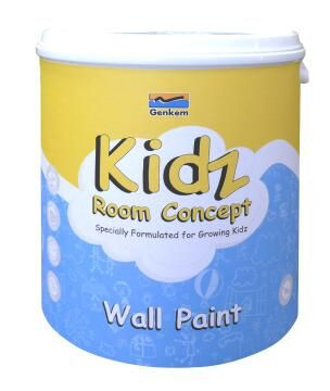 Interior Paint GENKEM Kidz Paint Sunshine Yellow 4 litres