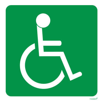 Handicapped sign ABS tower 150x150mm