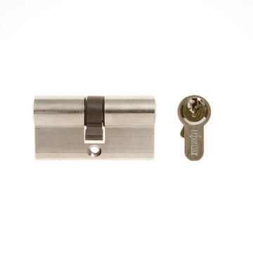 Euro cylinder chrome finish L&B security 60mm