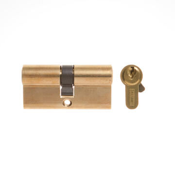 Euro cylinder brass finish L&B security 65mm
