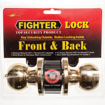 Knoblock round polished brass fighter
