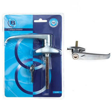 Garage door handle l-shape studded L&B security