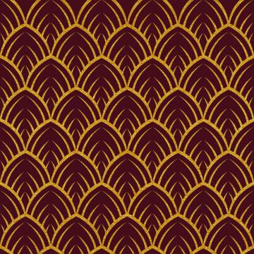 Wall Tile Burgundy Gold Print Talavera 20X20Cm
