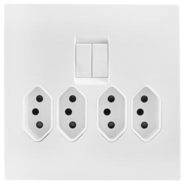 Socket 1X3Pin 4X4 White Topaz