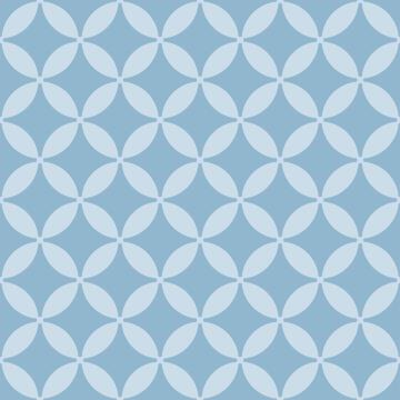 Wall Tile Pastel Blue Blossom Talavera 20X20Cm