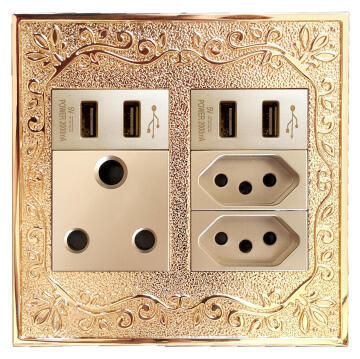 Switch 2X4 1Lever 1Way+1X3Pin Aroma Gold