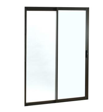 Sliding Door Aluminium 1 Side Opening (OX) Bronze-w2390xh2090mm