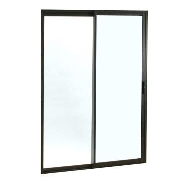 Sliding Door Aluminium 1 Side Opening (OX) Bronze-w2090xh2090mm