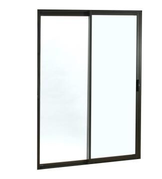 Sliding Door Aluminium 1 Side Opening (OX) Bronze-w2990xh2090mm