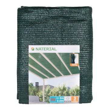 Shade Mesh Low Privacy NATERIAL 75% 80G/m2 Green 4 m X 5 m