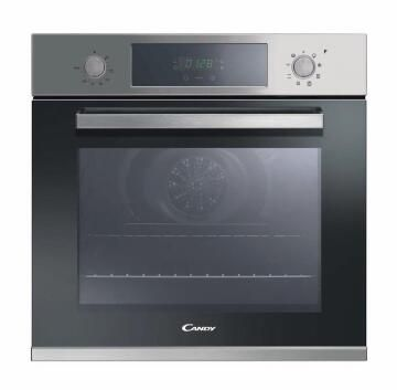 Electric oven CANDY 60cm 2 Knobs + Display - 8 Functions - Inox - Fan