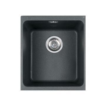 Kitchen Sink 1square Bowl FRANKE KBG110-34 Black Resine Stone 367mmx480mmx200mm