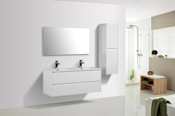 Enzo cabinet double drawer white 1200 (cabinet only)