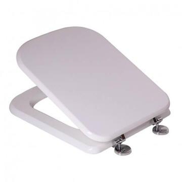 Toilet seat MDF with chrome hinge Bermuda white