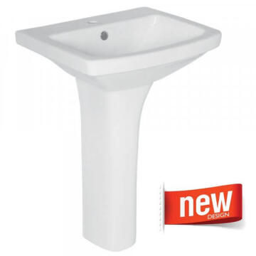 Basin SOLO with full pedestal MARITINIQUE