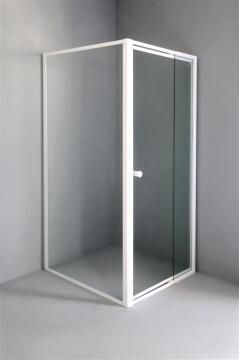 Shower front acess exandable pivot door glass EL BLANCO clear 100-120CM