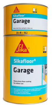 2 part waterbased epoxy coating SIKAFLOOR garage ral7035 light grey 5 litres kit