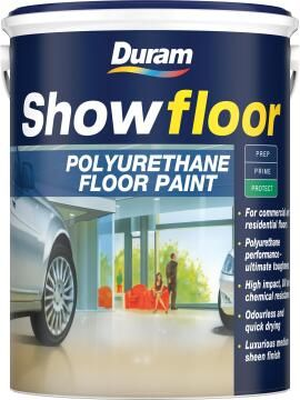 Floor paint for cement floors DURAM Showfloor White 5L
