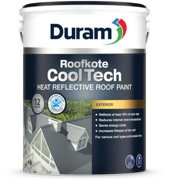 Acrylic roof paint DURAM Roofkote CoolTech Volcanic Grey 5L