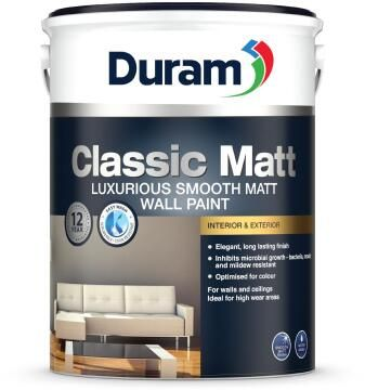 Wall paint DURAM Classic Matt White 5L
