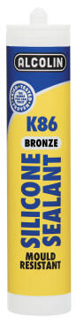 Silicone sealant ALCOLIN K86 280ml bronze