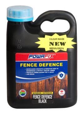 Fence defence POWAFIX black 1 litre
