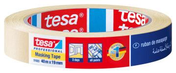 Professional GP Masking Tape TESA light-yellow 40m x 19mm