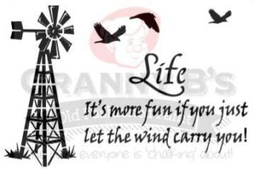 Stencils GRANNY B'S windmill life