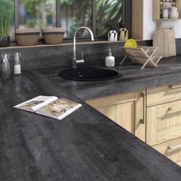 Kitchen worktop vintage wood 315cm x 65cm x 5.8cm water repellent treatment