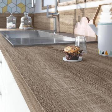 Kitchen worktop oak havana 315cm x 65cm x 5.8cm water repellent treatment