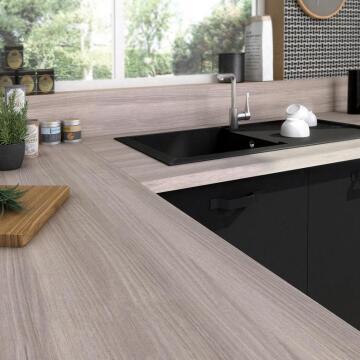 Kitchen worktop laminate linea white L300XD65XT3.8cm water repellent treatment