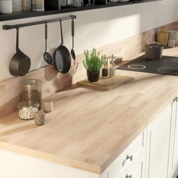 Kitchen worktop laminate beech imitation L300XD65XT3.8cm water repellent treatment