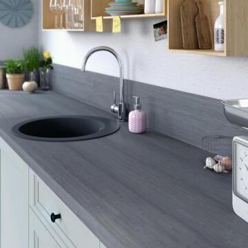 Kitchen worktop laminate travertin grey L315XD65XT3.8cmwater repellent treatment