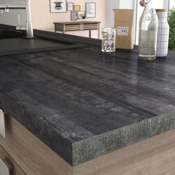 Kitchen worktop laminate vintage wood L315XD65XT3.8cm water repellent treatment