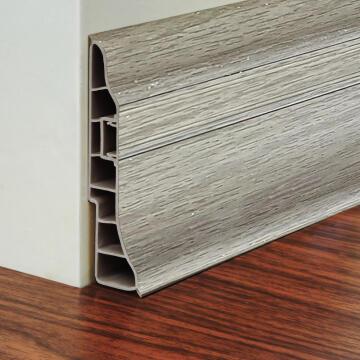 PVC Skirting Highveld Grey 95X24mm 2.5M long