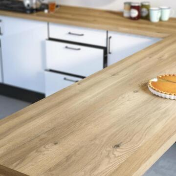 Kitchen worktop laminate boreal oak L300XD65XT3.8cm water repellent treatment