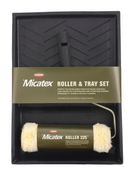 Trayset with plasteer roller HAMILTONS micatex 225mm for rough surfaces