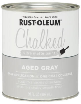 CHALKED PAINT AGED GRAY 887ML
