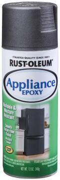 Spray paint RUST-OLEUM Appliance Epoxy Black stainless steel 340g