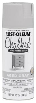Chalked ultra matt paint RUST-OLEUM aged gray 340g
