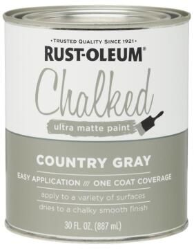 CHALKED PAINT COUNTRY GRAY 887ML
