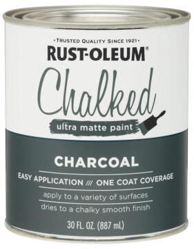 CHALKED PAINT CHARCOAL 887ML