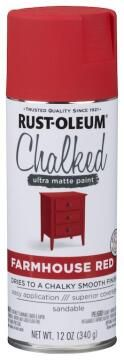 Spray Paint Ultra Matt Chalk RUST-OLEUM Chalked Farmhouse Red 340g